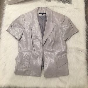 Anne Klein Jackets & Coats - Anne Klein Silver Shimmer Short Sleeve Blazer 10
